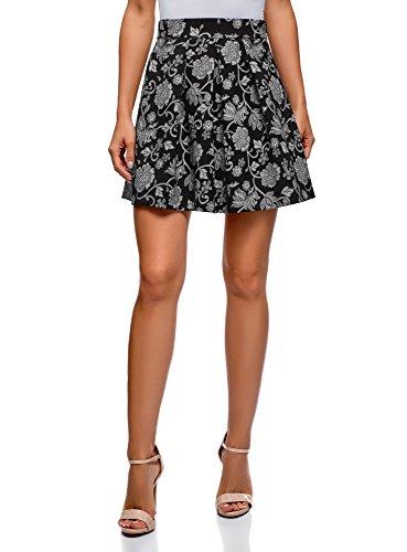Oodji Ultra Mujer Falda Estampada con Pliegues