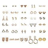 FENICAL Ear Stud Pendientes pequeños y Frescos con Forma de Estrella Animal en Forma de Estrella...