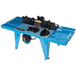 Silverline 460793 Table de défonceuse avec rapporteur, Bleu