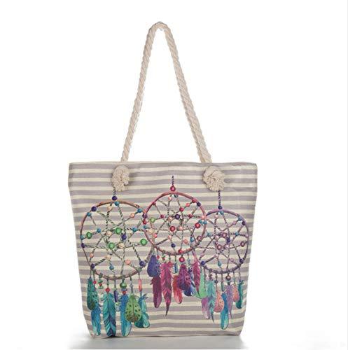 Xqi wangpu Mode lässig Damen Canvas Handtasche Schultertasche Satchel Print Tote Sh Taschen, B -