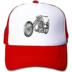 Unisex Baseball-Caps Mesh Back Chopper Motorcycle Cap Hats Ash