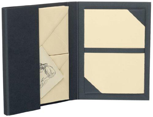 Rössler 1026222204 - Briefpapiermappe A5/C6, 15 Stück, chamois