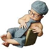 AIYObaby Neugeborenes Baby Fotografie Requisiten Junge Mädchen Kostüm Outfits Niedlichen Hut Hosen/Halloween Kürbis Kostüm (Suit)