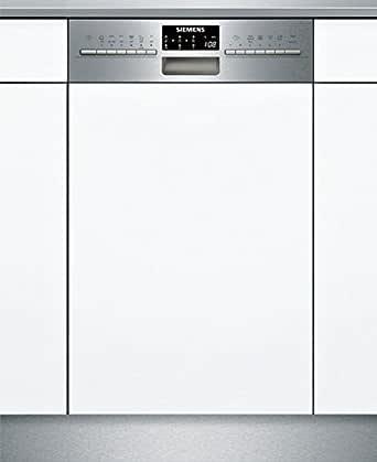 Siemens SR556S00PE Geschirrspüler Teilintegriert / A++ / 197 kWh/Jahr / MGD / 2380 l/Jahr / Edelstahl / DuoPower-Doppelsprüharm / DosierAssisten