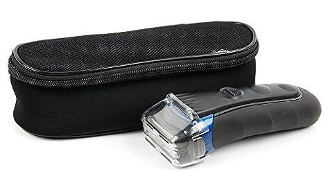 Etui de protection noir pour rasoir électrique Braun Series 1, Series 3 ProSkin, Series 5, Series 7 et Series 9 tous modèles - housse de transport DURAGADGET