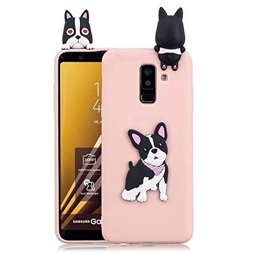 FNBK Handyhülle Silikon für Samsung Galaxy J6 2018 EU Version Schutzhülle 3D Hund Hülle Slim Cute Weiche TPU Silikon Gel Schutz Rückseite Schale Bumper Frauen Mädchen Kinder Handy Case