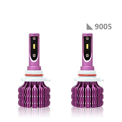 ACCDUER 10000LM LED Phare Ampoules de Conversion Kits COB Puce Super Bright 36W 6500K Auto Ampoule Frontale Voiture Phare-2 Pack,9005