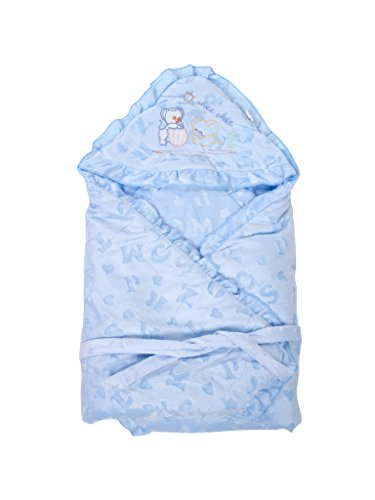 Mee Mee Baby Wrapper Blanket with Hood (Blue)  available at amazon for Rs.899
