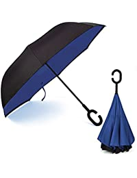 MSE *OFFER FREE 1 MAKEUP KIT WITH UMBRELLA* Cute C Handle Double Layer Umbrella Women New Style Paraguas For Parasol...