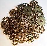 50x Steampunk Zahnräder Gothic Charms Bronze aus Metall -