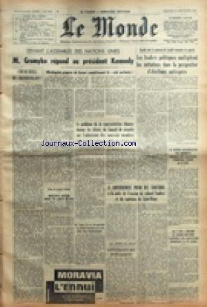 MONDE (LE) [No 5192] du 27/09/1961 - ASSEMBLEE DES NATIONS