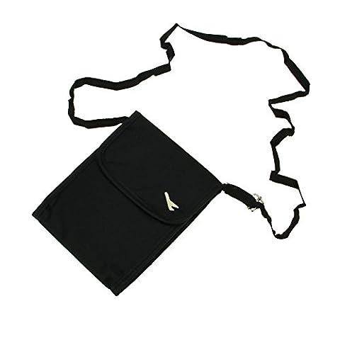 Travel Passport Document Wallet Mini Crossbody Single Shoulder Bag Cellphone Pouch Lightweight Nylon Messenger Airport Card Passport Cellphone Chequebook Card Holder Handbag