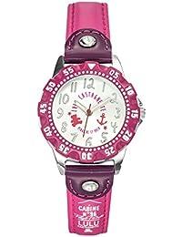 Lulu Castagnette - 38768 - Montre Fille - Quartz Analogique - Cadran Argent - Bracelet Cuir Violet
