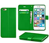 iPhone 6/6s Case, DN-Alive Wallet Book Case, Flip Case PU Premium Leather [Green] [Card Holder] iPhone 6/6s Cover - Id Holder [Drop Resistance] [Scratch Proof] [Shockproof] Case For iPhone 6/6s