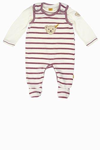 Steiff Unisex Baby Strampler Set 2tlg. Nicky + T - Shirt 1/1 Arm, Gr. 56, Violett (dusky orchid|purple 7982)
