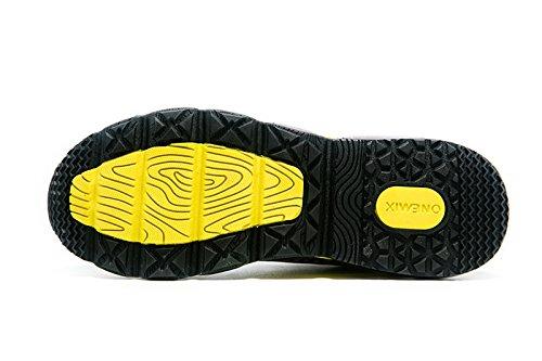 Onemix Herren Rhythmus Air Walkingschuhe Sneaker Laufschuhe Sneaker Sportschuhe Gelb / Schwarz