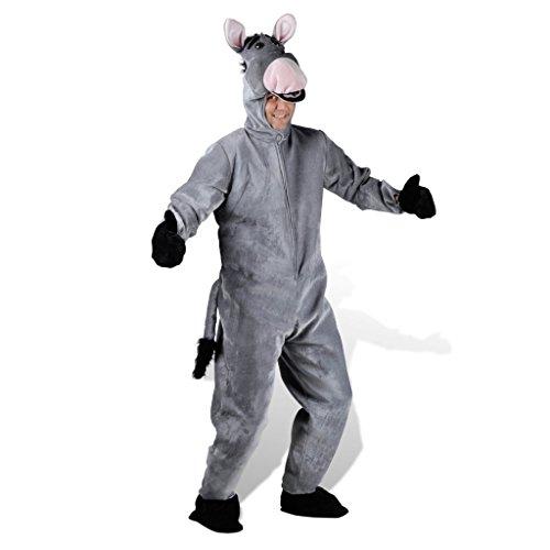 vidaXL Kostüm Esel Tierkostüm Faschingkostüm Karnevalkostüm Verkleidung XL/XXL (Esel-kostüm Für Erwachsene)