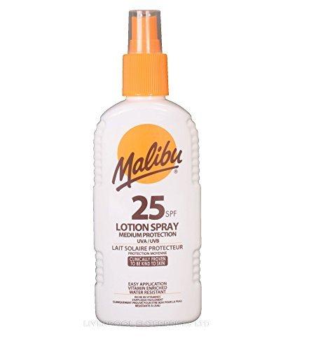Malibu Lotion Spray 200ml HOCH MITTEL TIEF UVA / UVB-Schutz Sun Care Produkte - SPF25 200ml -