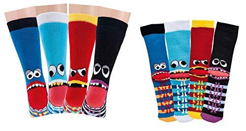 TippTexx 24 6 Paar Kinder Thermo Stoppersocken, ABS Socken für Mädchen und Jungen, Ökotex Standard, Strümpfe mit Noppensohle, viele Muster (Freche Bande, 19-22) -