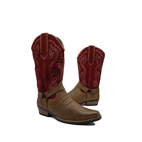 Kick Footwear , Herren Stiefel 6 UK, Rot - Rotes Wildleder - Größe: 38 EU -