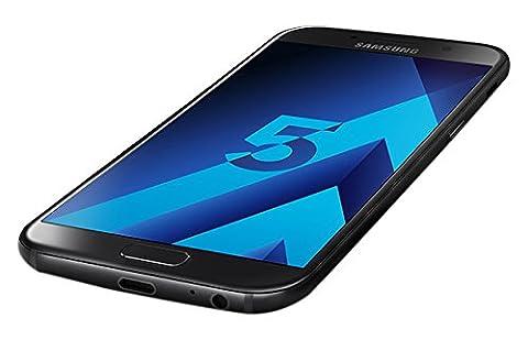 Samsung Galaxy A5 2017 Smartphone portable débloqué 4G (Ecran: 5,2 pouces - 32 Go - Nano-SIM - Android) Noir, Carte SIM européenne uniquement