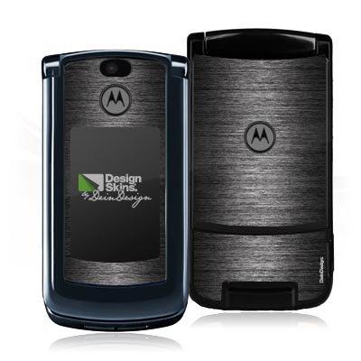 Design Skins für Motorola RAZR 2 V9 - Shiny Metal - Anthrazit Design Folie - Razr Handy Skins
