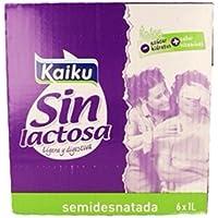 Pack de 6 Leche Kaiku Semidesnatada Sin Lactosa 1L