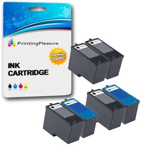 6 Druckerpatronen für Dell All-In-One 922, 924, 942, Photo 944, 946, 962, 964 | kompatibel zu Dell Serie 5 (M4640 & M4646) -