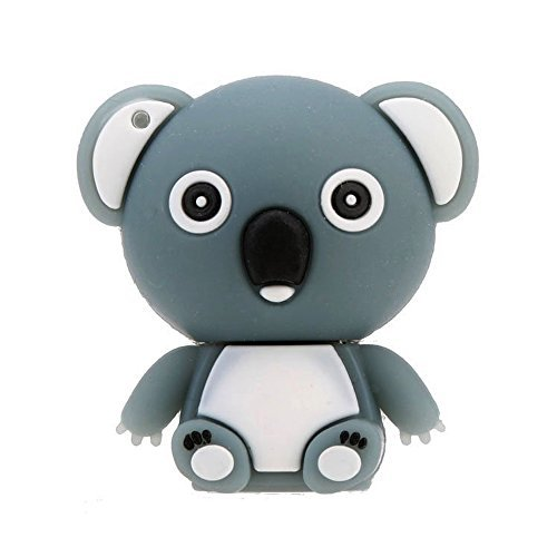 SODIAL(R) Tenga Shaped USB 2.0 Flash Disk Conducir almacenamiento Memory Stick Pulgar Pen Drive Mini Dibujos Animados Animal Gris 16GB