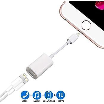 Adapter für iPhone 7, Asoon Dual Lightning Adapte 2 in 1 Unterstützung Music Control ,aufladen und anrufen für IPhone 7/7plus /8/8plus /X