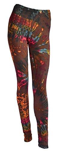 a Hose Yoga Pants Batik Leggings (Tie Dye Strumpfhose)