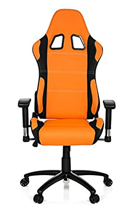 hjh OFFICE 729340 silla gaming GAME FORCE tejido negro / naranja silla de oficina reclinable silla escritorio