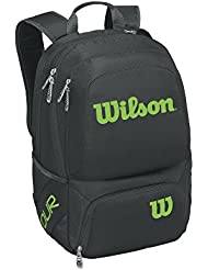 Wilson Tour V de artículos deportivos mochila bolsa de tenis, negro/lima