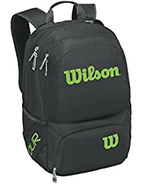 WILSON Tour V Backpack Medium Bkli Mochila, Unisex Adulto, Negro (Black/Lime