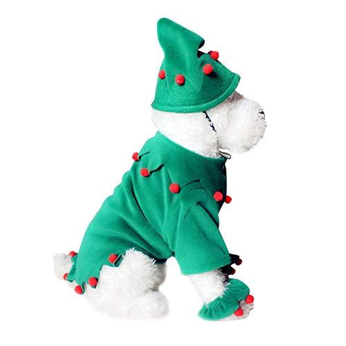 BIGBOBA Pet Weihnachten Halloween-Kostüm, Kürbis-Zauberer-Schneeflocke-Elch-Kleid, warme Teddyjacke, niedlicher Haustier-Kleidung-Overall, Verschiedene Größen vorhanden, S/M/L