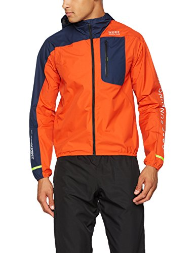 GORE WEAR Herren Fusion Windstopper Active Shell Jacke, orange/Black iris, M - Mens Fusion Jacke