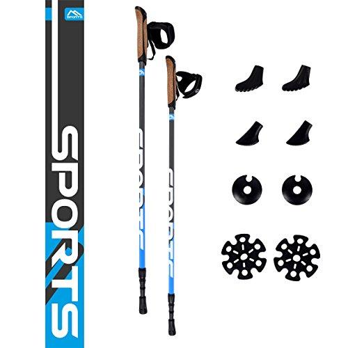 Nordic Walking Stöcke Premium - hochwertige Qualität - Superleicht - auswählbar mit Tragetasche - Walking Sticks (Nordic Walking Stöcke)