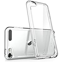 iPod Touch 6th Generation Case, [Scratch Resistant] i-Blason **Clear** [Halo Series] for Apple iTouch 5/6 Hybrid Bumper Case Cover (Clear), [Importado de UK]