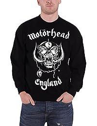 Motorhead Homme Sweat-Shirt Noir England Warpig band logo officiel