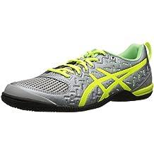 Asics Fortius TR Fibra sintética Zapato para Correr, Light Grey-Flash Yellow-Pistachio, US 5 | UK 3| EU 35.5