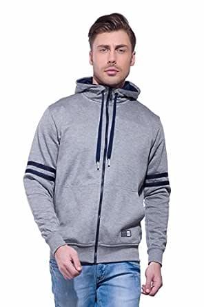 Alan Jones Clothing Men's Cotton Sweatshirt (Melange, XXL)