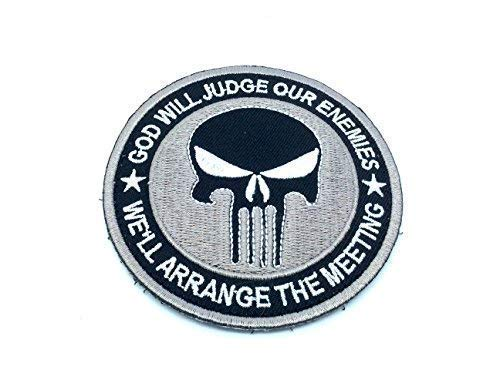 Punisher God Will Judge Our Enemies Gris Bordado Airsoft