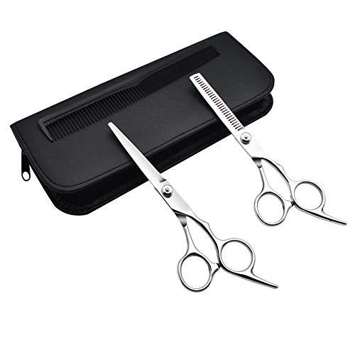 GreeSuit tijeras de peluquería profesional 2 piezas de mascota de aseo tijeras...