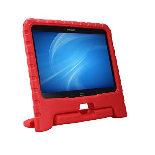 NEWSTYLE Samsung Galaxy Tab 4 10.1 Kinder Hülle Case mit umwandelbarer Handgriff Superleichte Stoßfeste Schutzhülle Tasche Cover für Samsung Tab 4 SM-T530/T531/T535 (10,1 Zoll) - Rot (Galaxy Tab Kind 4 Case)