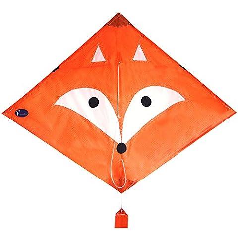 emmakites Mr Fox Diamond cerf-volant 2,5m avec corde double Tails