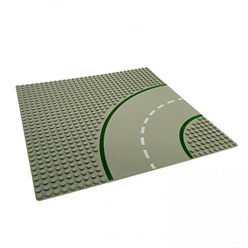 1 x Lego System Bau Platte Kurve 9N hell grau 32 x 32 Noppen viertel Kreis Straße 609p01 - Platte Graue Lego Bau