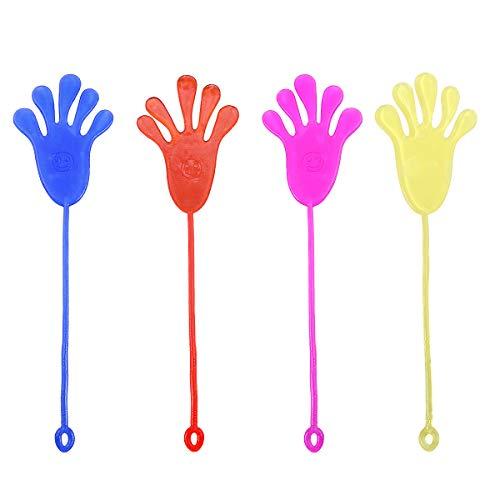 Toyvian Kletterpalmen klebrige Gelee Hände Spielzeug Neuheit klebrige Spielzeug für Kinder 12 Stück (Klebrige Hand Spielzeug)