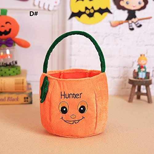 (Bellecita Niedliche Einkaufstasche-Halloween-Dekorations-Süßigkeits-Tasche für Kinder ( Farbe : C ))