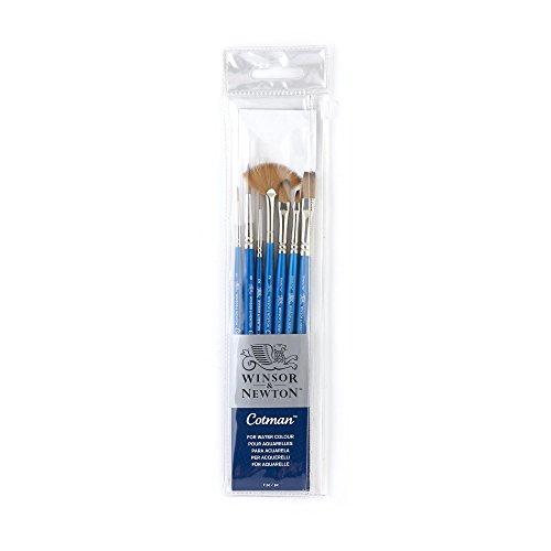 Winsor & Newton Cotman'pennello manico corto (confezione da 7)