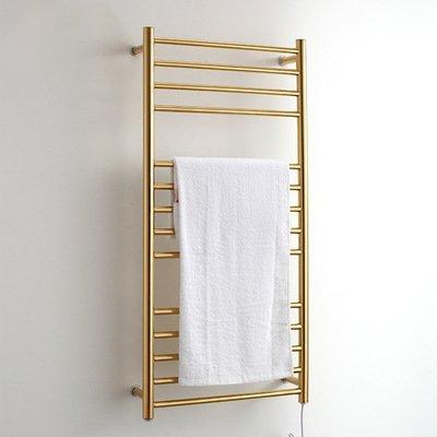 Libina Frame Free Standing Wall Radiador, Toalleros Eléctricos, Tendedero para Baño, Toallero De Baño De Acero Inoxidable, Percheros Colgantes 304, Dorado